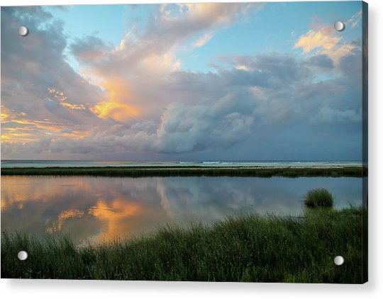 Storm Cloud Reflections At Sunset Acrylic Print