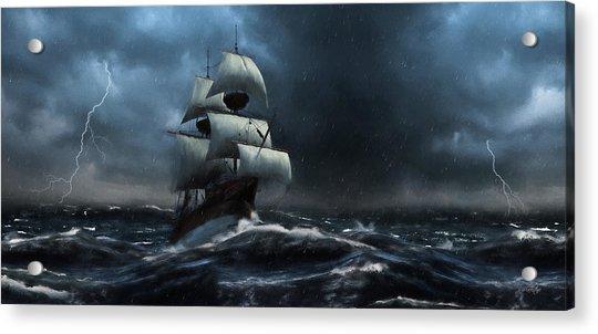 Stormy Seas - Nautical Art Acrylic Print