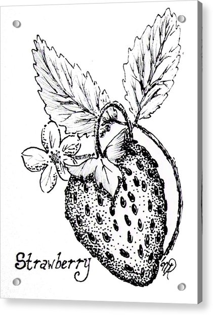 Strawberry Dreams Acrylic Print