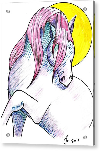Strawberry Horse Acrylic Print