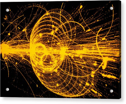Streamer Chamber Photo Of Particle Tracks Acrylic Print