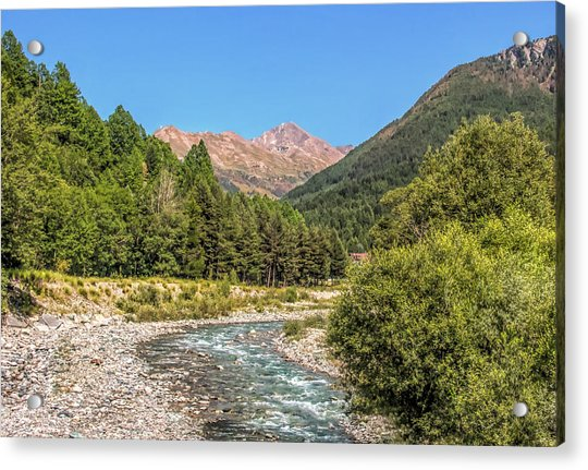 Streaming Through The Alps Acrylic Print