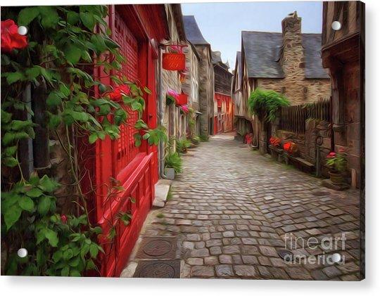 Street Of Dinan 2 Acrylic Print