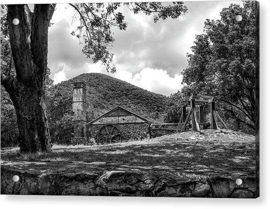 Sugar Plantation Ruins Bw Acrylic Print