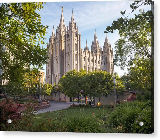 Summer At Temple Square Acrylic Print