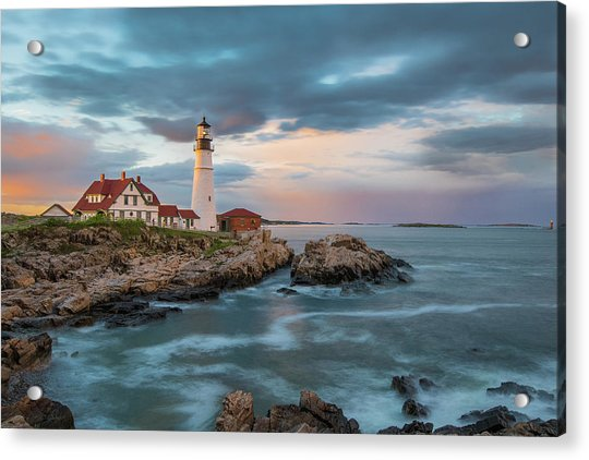 Summer Sunset At Portland Head Light Acrylic Print