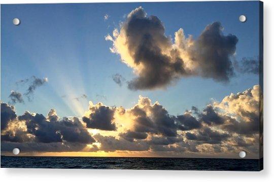 Sun Rays And The Cloud Acrylic Print