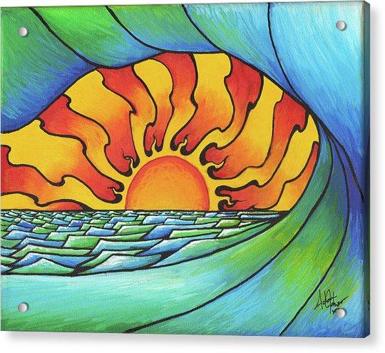 Sun Through The Curl Acrylic Print