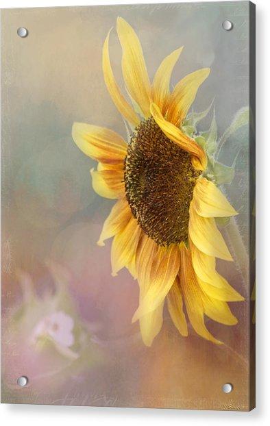 Sunflower Art - Be The Sunflower Acrylic Print