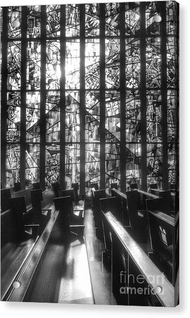 Sunlit Stained Glass At Czestochowa Shrine, Pa Acrylic Print