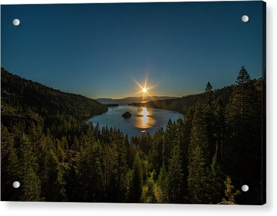 Sunrise At Emerald Bay Acrylic Print