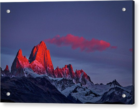 Sunrise At Fitz Roy #3 - Patagonia Acrylic Print