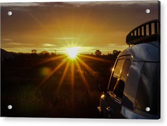 Sunrise And My Ride Acrylic Print