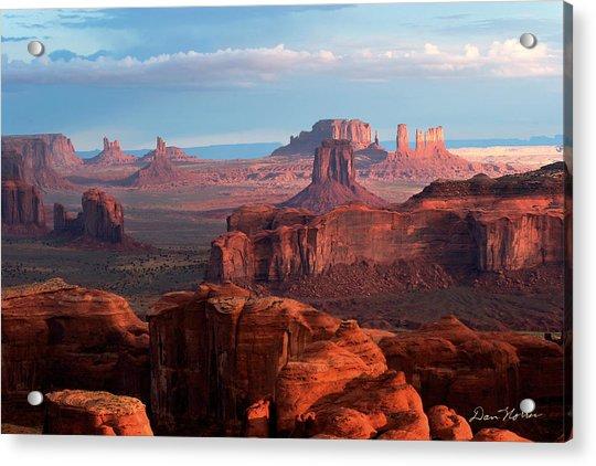 Sunrise From Hunt's Mesa Acrylic Print