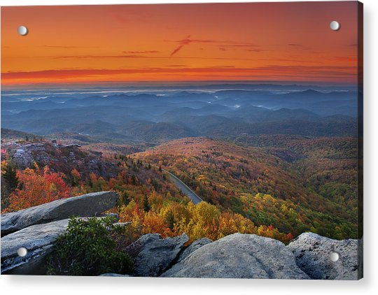 Sunrise On Rough Ridge  Acrylic Print