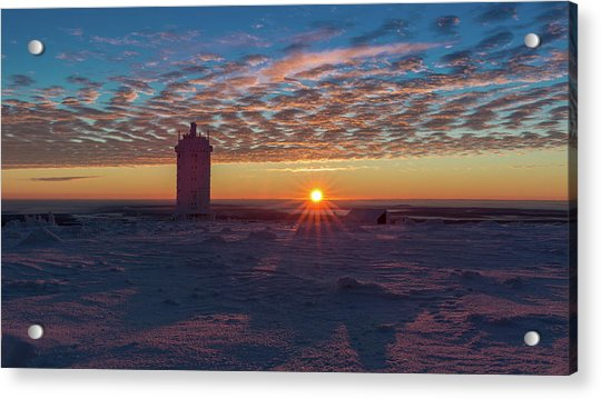 Sunrise On The Brocken, Harz Acrylic Print