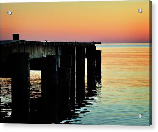 Sunrise Over Chesapeake Bay Acrylic Print