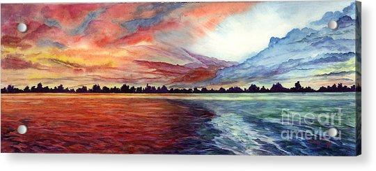 Sunrise Over Indian Lake Acrylic Print