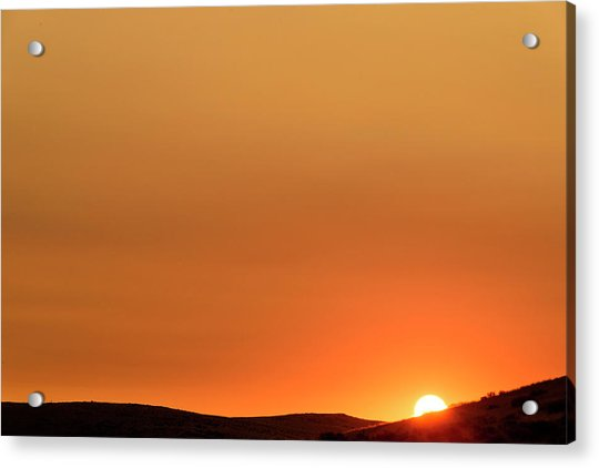 Sunrise Over The Umtanum Ridge Acrylic Print