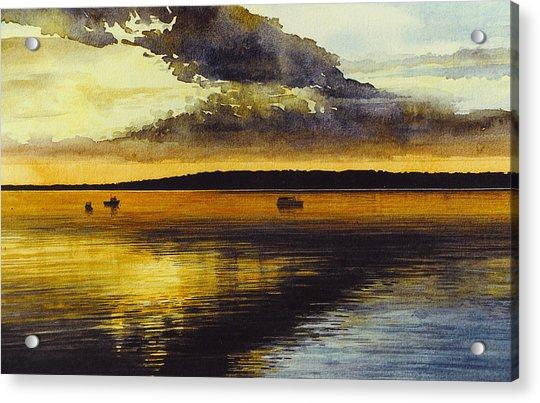Sunrise Rockland Harbor Acrylic Print