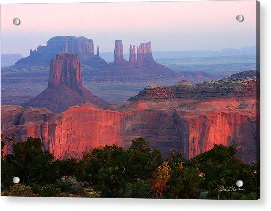 Sunrise Telephoto From Hunt's Mesa Acrylic Print