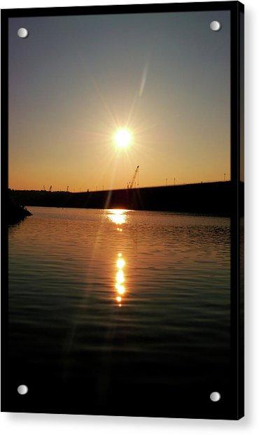 Sunset At Wolf Creek Dam Acrylic Print