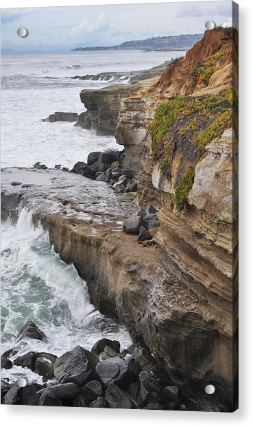 Sunset Cliffs San Diego Portrait Acrylic Print