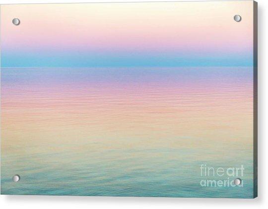 Sunset Hues In Rangiroa, French Polynesia Acrylic Print by Julia Hiebaum