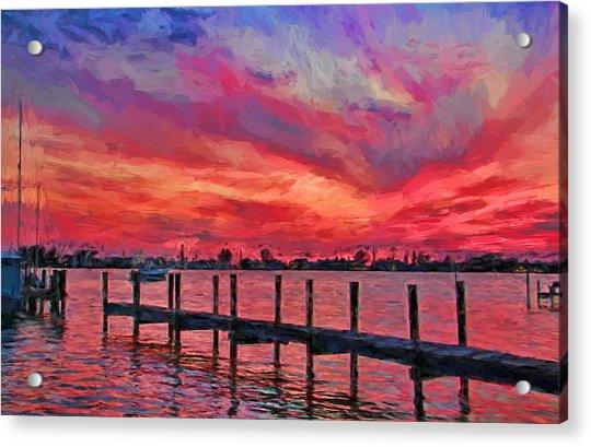 Sunset Impressionism Acrylic Print