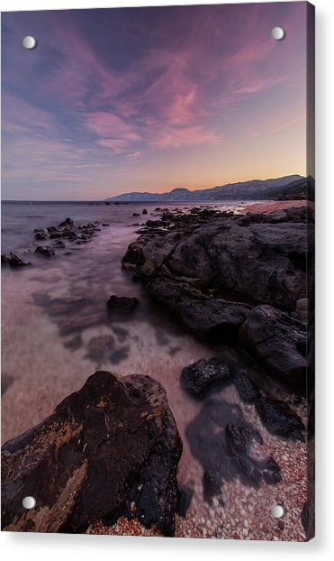 Sunset In Cala Gonone Acrylic Print
