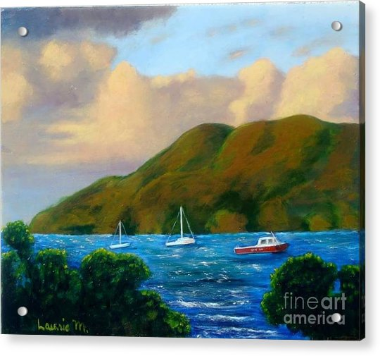 Sunset On Cruz Bay Acrylic Print