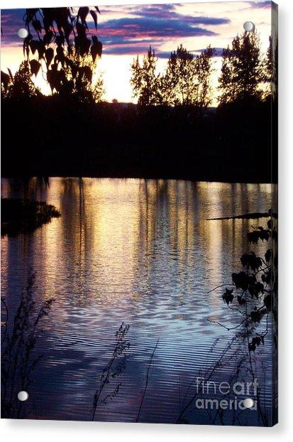 Sunset On River Acrylic Print