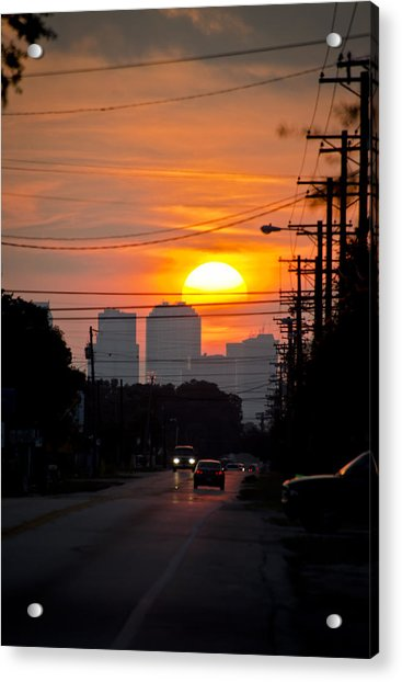 Acrylic Print featuring the photograph Sunset On The City by Carolyn Marshall