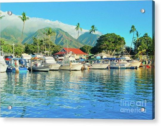 Sunset On The Marina Lahaina Harbour Maui Hawaii Acrylic Print