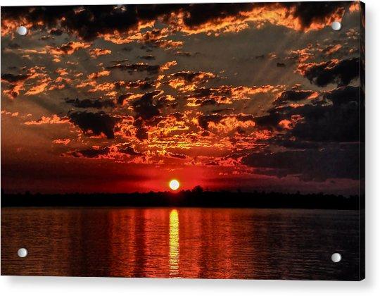 Sunset On The Zambezi Acrylic Print
