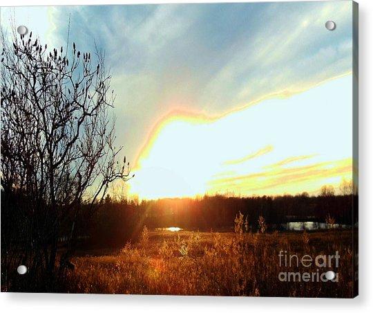 Sunset Over Fields Acrylic Print