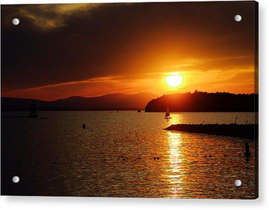Sunset Over Lake Champlain Acrylic Print
