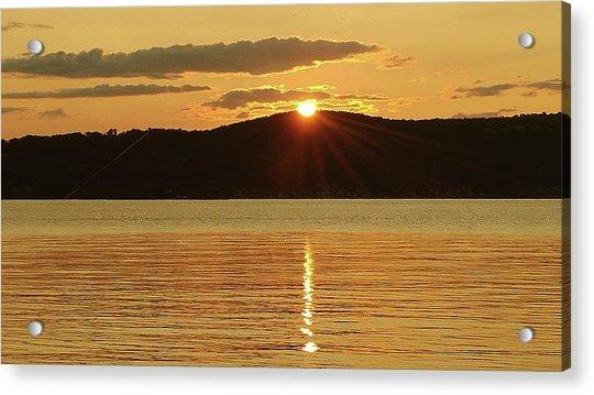 Sunset Over Piermont Acrylic Print