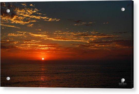 Sunset Over The Pacific Ocean Acrylic Print