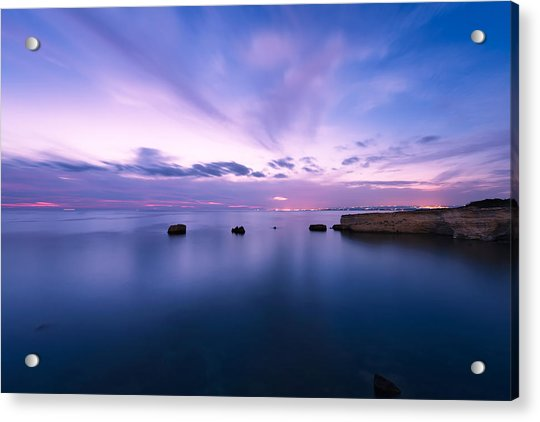 Acrylic Print featuring the photograph Sunset Over The Sicilian Sea by Mirko Chessari