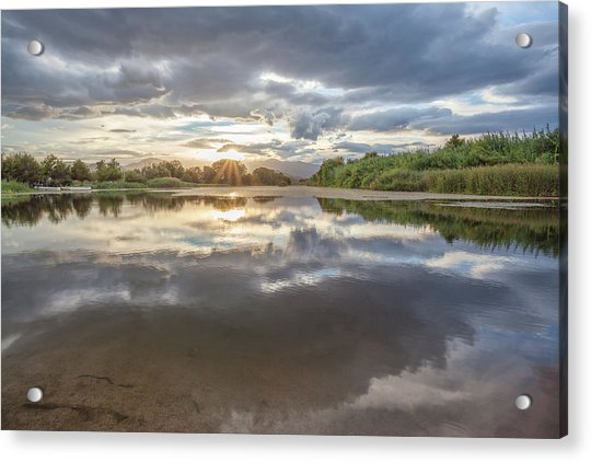 Sunset Reflected Acrylic Print