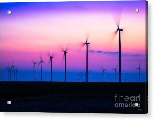 Sunset Spinning Acrylic Print