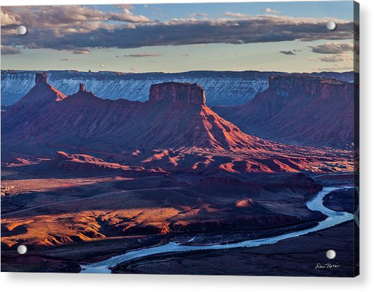 Sunset View From Omg Point Acrylic Print