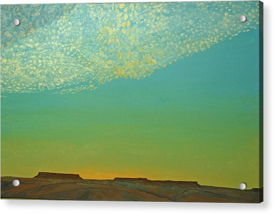 Sunset With Alto Cumulous Acrylic Print