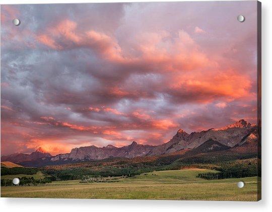 Sunset With Rain Clouds Acrylic Print