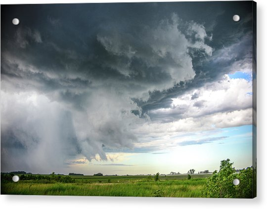 Super Cell Over Otter Tail County Acrylic Print