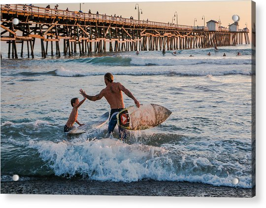 Surfboard Inspirational Acrylic Print