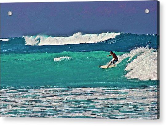 Surfing At Anaeho'omalu Bay 2 Acrylic Print