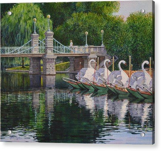 Swan Boats Boston Common Acrylic Print