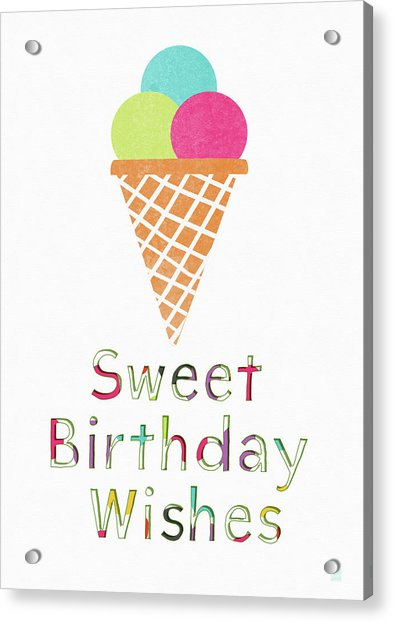 Sweet Birthday Wishes- Art By Linda Woods Acrylic Print
